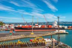 Wellington Port New Zealand Stock Photo