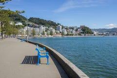 Wellington-` s orientalische Bucht an einem sonnigen Tag Stockfotografie