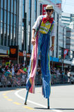 Wellington Santa Parade 2015, New Zealand Stock Photo