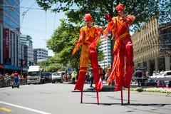 Wellington Santa Parade 2015, Nieuw Zeeland Royalty-vrije Stock Afbeeldingen