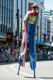 Wellington Santa Parade 2015, Nieuw Zeeland Stock Foto