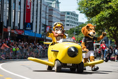 Wellington Santa Parade 2015, Nieuw Zeeland Royalty-vrije Stock Foto's