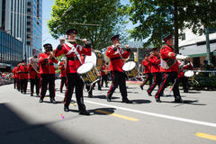 Wellington Santa Parade 2015, Nouvelle-Zélande photographie stock libre de droits