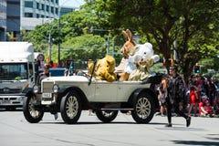 Wellington Santa Parade 2015, Nova Zelândia Fotografia de Stock Royalty Free