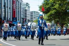 Wellington Santa Parade 2015, Nya Zeeland Fotografering för Bildbyråer