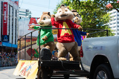 Wellington Santa Parade 2015, Nya Zeeland Arkivbild