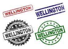 WELLINGTON Seal Stamps Textured Grunge ilustração royalty free