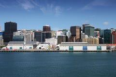 Wellington Skyline Royaltyfria Bilder