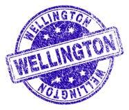 WELLINGTON Stamp Seal Textured Grunge ilustração stock
