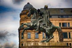 Wellington Statue, Edinburgh, Schottland Lizenzfreies Stockfoto