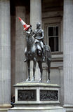 Wellington statue and traffic cone Scotland UK Stock Photography