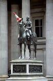 Wellington-Statue und Verkehrskegel Schottland Großbritannien Stockfotografie