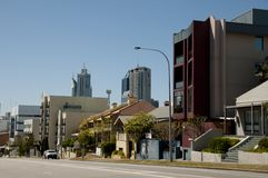 Wellington Street - Perth - Australië stock afbeeldingen