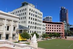 Wellington Town Hall e quadrado cívico, Wellington Imagens de Stock