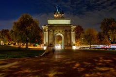 Wellington łuku zabytek w Londyn, UK Zdjęcie Stock