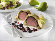 Wellington venison tenderloin Royalty Free Stock Photos