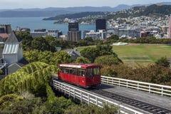 Wellington wagon kolei linowej, Nowa Zelandia obraz royalty free