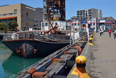 Wellington Waterfront, Docks, CBD and Te Papa Museum. Stock Photos