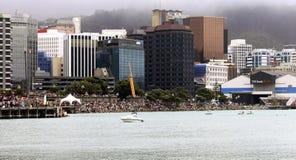 Wellington Waterfront, Nieuw Zeeland. Royalty-vrije Stock Foto's