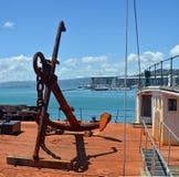 Wellington Waterfront, porto & ancora storica Fotografia Stock Libera da Diritti