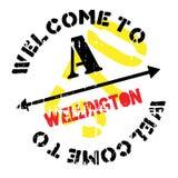 Wellington znaczka gumy grunge Obraz Stock
