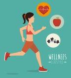 Wellnees healthcare lifestyle Stock Photos