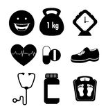 Wellnees healthcare lifestyle Stock Images