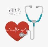 Wellnees healthcare lifestyle Royalty Free Stock Image