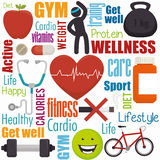 Wellnees healthcare lifestyle Royalty Free Stock Photos