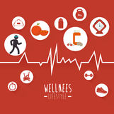 Wellnees healthcare lifestyle Royalty Free Stock Photo