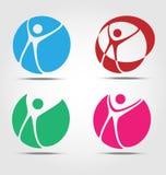Wellnes busines icon set Royalty Free Stock Image