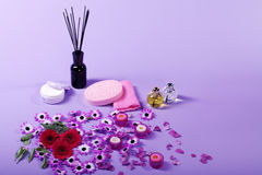 Wellnes decoration in pink style Stock Photos