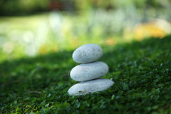 Wellnes stone in nature Stock Images
