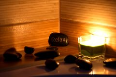 wellness θέματος πετρών ομορφιάς health massage products spa Στοκ Φωτογραφία