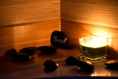 wellness θέματος πετρών ομορφιάς health massage products spa Στοκ Εικόνες