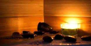 wellness θέματος πετρών ομορφιάς health massage products spa Στοκ εικόνες με δικαίωμα ελεύθερης χρήσης