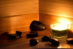 wellness θέματος πετρών ομορφιάς health massage products spa Στοκ φωτογραφίες με δικαίωμα ελεύθερης χρήσης