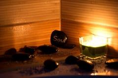 wellness θέματος πετρών ομορφιάς health massage products spa Στοκ Φωτογραφίες
