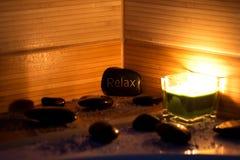 wellness θέματος πετρών ομορφιάς health massage products spa Στοκ Εικόνα