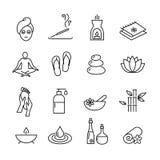 Wellness και εικονίδια καλλυντικών, υγιής τρόπος ζωής Στοκ Εικόνες