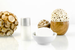 Wellness - σαπούνι με το μικρό μπουκάλι 1 στοκ εικόνες
