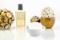 Wellness - σαπούνι με το μικρό μπουκάλι 4 στοκ φωτογραφίες