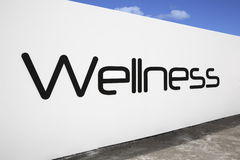 Wellness. Logo on a white wall stock photo