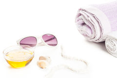 Wellness accessories Royalty Free Stock Images