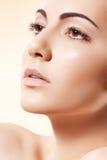 Wellness & de gezondheidszorg van het kuuroord. Model met schone huid Stock Fotografie