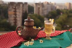 Free Wellness At Home: A Cozy Evening With Chamomile Tea. Royalty Free Stock Image - 191558986
