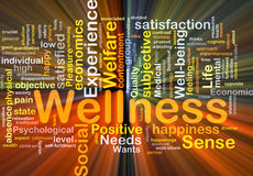Wellness background concept glowing Royalty Free Stock Image