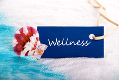 Wellness Background. Wellness on a Label at the Beach Royalty Free Stock Images