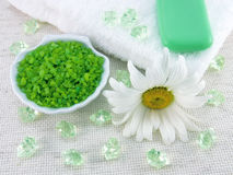 Wellness bath accessories Royalty Free Stock Photography