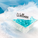 Wellness with bath salt Stock Image